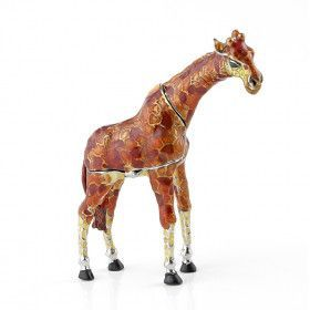 Brown and Red Jewelled Giraffe Keepsake Box