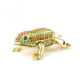 Green and Orange Jeweled Frog Box
