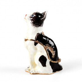 Black and White Cat Trinket Box