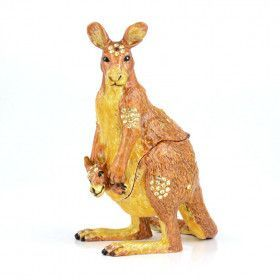 Kangaroo with Joey Trinket Box