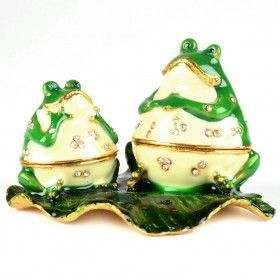 Two Funny Frogs Trinket Box