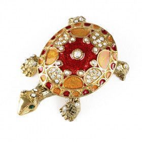 Red & Gold Turtle Trinket Box