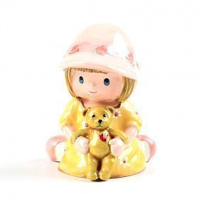 Little Girl with Teddy Bear Memories Box