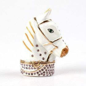 White Horse Head Trinket Box