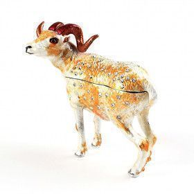 Ram Figurine Trinket Box