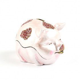 Chubby Piggy Bank Trinket Box