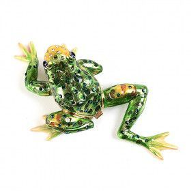 Stretching Frog Trinket Box