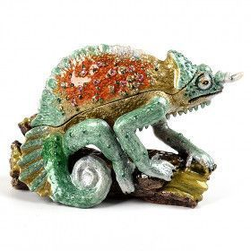 Green Chameleon Trinket Box