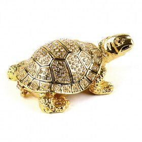 Golden Snapping Turtle Trinket Box