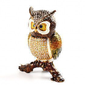 Large Owl Trinket Box