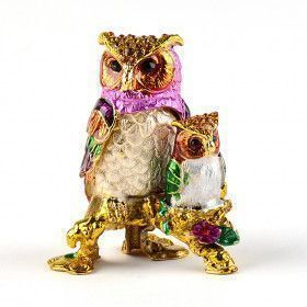 Colorful Owls Family Trinket Box