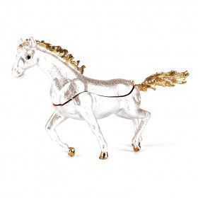 White Horse Running Trinket Box