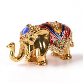 Colorful Elephant Trinket Box