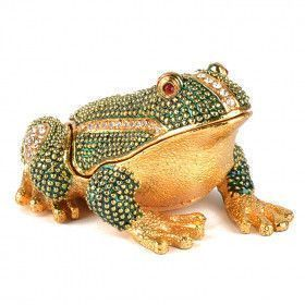 Green & Gold Frog Trinket Box