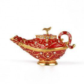 Red Genie Lamp Trinket Box