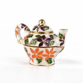 Colorful Floral Teapot Trinket Box