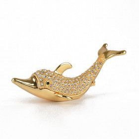 Golden Dolphin Keepsake Box