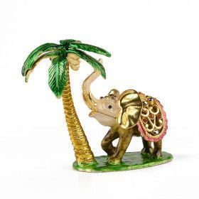Elephant & Palm Tree Keepsake