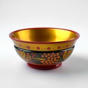 Russian Craft Khokhloma Bowl