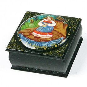 Painted Fairytale Russian Lacquer Box
