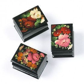 Russian Lacquer Box Set of Three