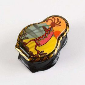Small Kokopelli Lacquer Box