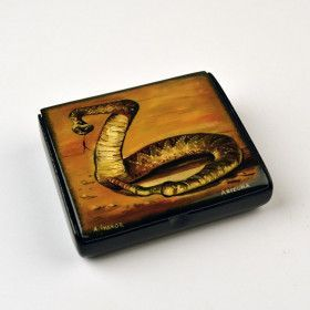 Arizona Rattlesnake Lacquer Box