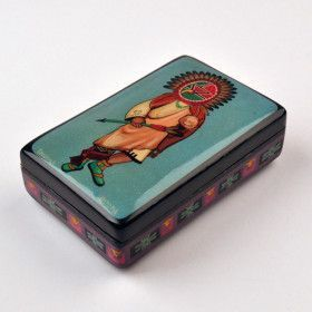 Kachina Chief Lacquer Box