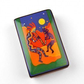 Colorful Kokopellis Lacquer Box