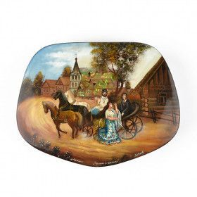 The Gypsies Fedoskino Lacquer Box