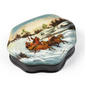 Winter Troika Ride Lacquer Box