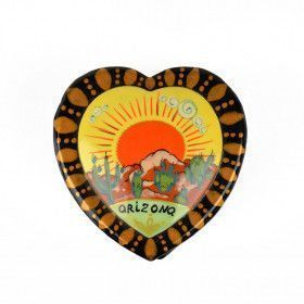 Heart Shape Arizona Lacquer Box