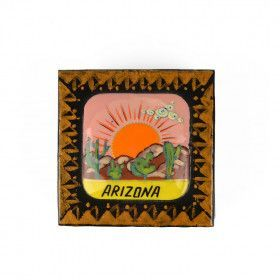 Square Arizona Lacquer Box