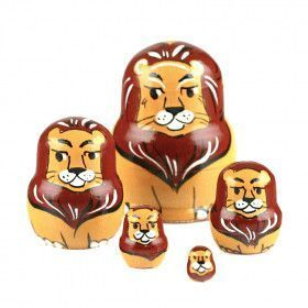 "1 1/2"" Tall Tiny Lion Stacking Doll"