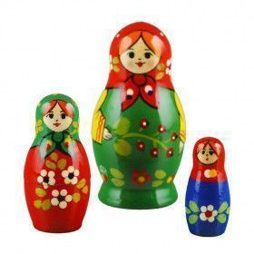 Little Three Sisters Nesting Doll