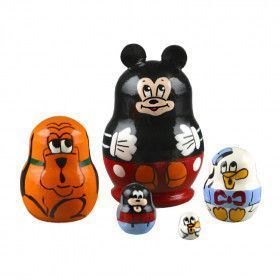 "1 1/4"" Tall Tiny Mickey Mouse Stacking Doll"
