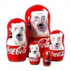 Collectible Coca Cola Bear Nesting Doll