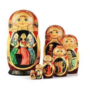 Tale of Tsar Saltan and Three Sisters Nesting Doll