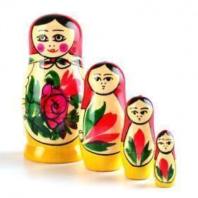 Red Roses 4 Pcs. Babushka