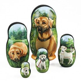 Golden Retriever Nesting Doll