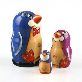 Penguin Cute Family Babuska