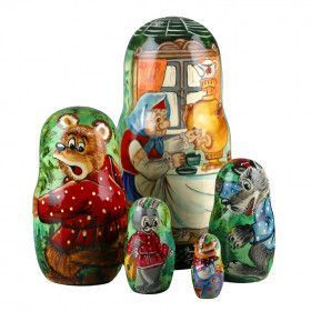 Tale Of Kolobok Nesting Doll