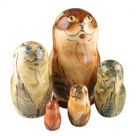 Charming Cats Stacking Doll