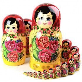 20 pc. Traditional Red Roses Matryoshka