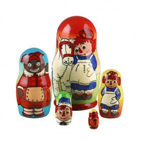 "3 1/2"" Tall Raggedy Ann Stacking Dolls"