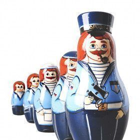 Crew of Sailors Stacking Doll