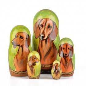 Dachshund Doggy Matryoshka Doll