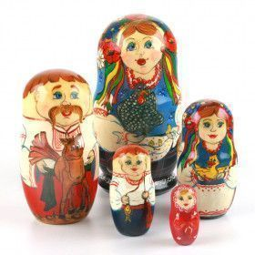 Happy Ukrainian Family Matryoshka