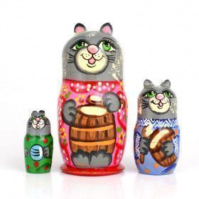 Grey Mama Cat Matryoshka