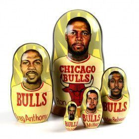 Collectible Chicago Bulls Nested Doll (2002)